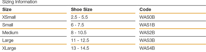 Web Ankle size guide
