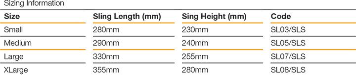 Shoulder Lok Size Guide